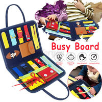 Educational Toddler Busy Board Kids Children Sensory Activity Toy Learning Board