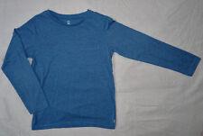 T-shirt bleu chiné, manches longues pour garçons, Okaïdi, 8 ans (126 cm)