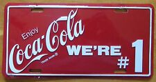 2000's ENJOY COCA-COLA WE'RE # 1 BOOSTER License Plate