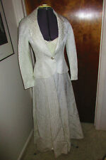 Vntg Victor Costa For Nahdree Classic Ivory Strapless Formal Gown w/Jacket Sz 4