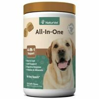 NaturVet Soft Chew Dogs Skin and Coat Joint Support (Jar) - 120 ct EXP 09/2023