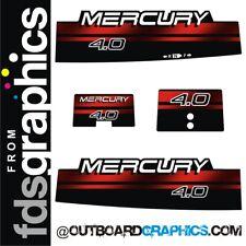 Mercury 4hp 2 stroke outboard decals/sticker kit