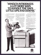 1985 Actor Tony Randall & Minolta EP 470Z Copier photo vintage promo print ad