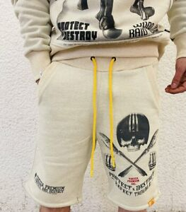 Yakuza Premium Shorts beige kurze Hose Jogginghose Jogger