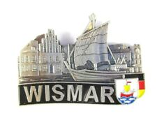 Wismar Silhouette Metal Magnet Germany Souvenir, New