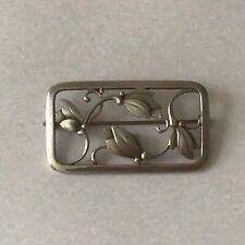 Georg Jensen Tulip Square Vintage Brooch Pin Sterling Silver Denmark