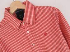 Mr. _ Vntg LU786 G-Star Raw Camisa Nueva Base Core Cuadros Rojo Original Premium