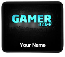 Personalised 'GAMER 4 LIFE' Mousemat Mat -PC/Laptop Gift - Gaming Pad - Add Name