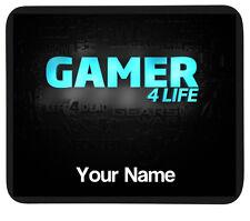 """Personnalisé """"gamer 4 life"""" mousemat tapis-pc/ordinateur portable cadeau-gaming pad-ajoutez nom"""