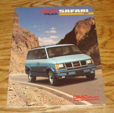 Original 1991 GMC Safari Sales Brochure 91 SLX SLE SLT