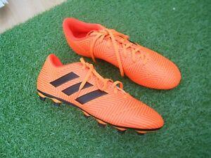 BNWOB ADIDAS NEMEZIZ 18.4 FG FOOTBALL BOOTS - ORANGE - UK SIZE 10