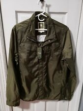 G STAR RAW FILCH COMBAT Overshirt/Jacket/Windbreaker,green nylon, NWT Large