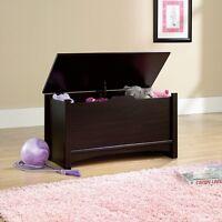 Kids Toy Box Storage Chest Bedroom Furniture Organizer Wood Bench Espresso