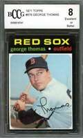 George Thomas Card 1971 Topps #678 Boston Red Sox BGS BCCG 8