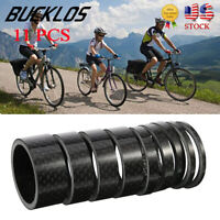 "11PC Headset Spacers Carbon Fiber Bike Washer 1-1/8"" MTB/Road Bicyle Fork 6 Size"