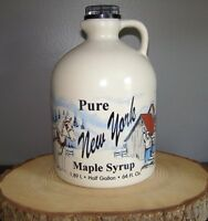 HALF GALLON THREE CREEKS FARM 2020 PURE NEW YORK MAPLE SYRUP GRADE A AMBER RICH