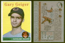 (26126) 1958 Topps 462 Gary Geiger SP Indians-EM