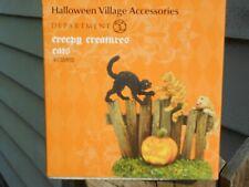 Dept 56 Halloween Village Accessory Creepy Creatures Cats Nib