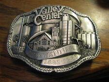 Valley Center Kansas Centennial 1885 - 1985 Belt Buckle   Flat SR