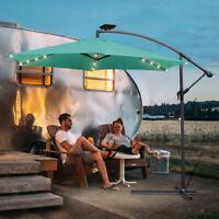 LED Solar Beleuchtung für 3,5M Sonnenschirm Kurbel Schirm Balkonschirm 48 LEDs
