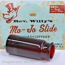 REV. WILLY'S MO-JO RED PYREX GLASS GUITAR SLIDE - NEW