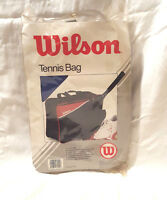 """Vintage Wilson Club Tote Tennis Gym Carrying Carry On Bag Blue Red 17""""x13""""x6"""""""