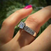 2.50 Ct Round Diamond Cluster Engagement Wedding Ring Women's 14k White Gold GP