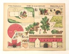 Pellerin Imagerie D'Epinal- 1224 Petite Construction Ferme En Basse Brentagne