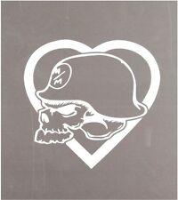 Metal Mulisha Heart Helmet Decal Sticker White