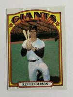 1972 Topps Ken Henderson # 443 Baseball Card San Francisco Giants SF