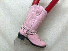 Durango Pink Leather Studded Harness Cowboy Boots Toddler Size 13.5 D
