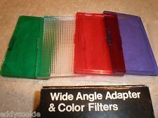 JC Penney Wide Angle Adapter & Color Filters in Original Box - Unused