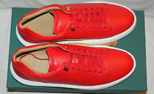 BUSCEMI UNO ALCE RED & WHITE MEN'S HIGH-TOP LEATHER SNEAKERS Sz. 43IT/10US