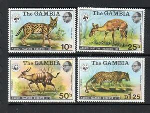 GAMBIA MNH 1976 SG356-359 ABUKO NATURE RESERVE