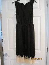 NEW w tags LC Lauren Conrad Marrakesh Moment Dress Black Sz M Medium Lace Hem