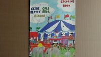 VTG 1978 Clyde Beatty Coloring Book SIGNED by 7 Performers (RARE)  FREE SHIPPING