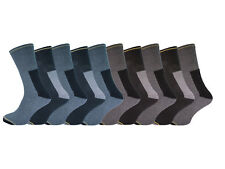 10 Pairs Mens Heavy Duty Work Socks Size 6-11 Cotton Rich Cushioned Support Foot