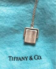 Tiffany & Co. Plate Tag Pendant Necklace Silver 925 tf1873