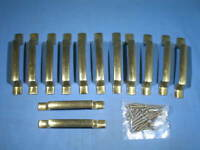 Set of 12 KEELER Brass Modern N-Series Drawer Cabinet Pulls N16640 - NOS