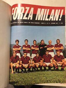 FORZA MILAN 14 NUMERI DA OTTOBRE 1971 A DICEMBRE 1972 RILEGATI