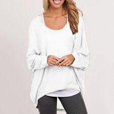Women Batwing Long Sleeve Jumper Sweater Shirt Baggy Loose Jumper Pullover Tops