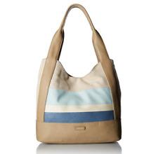 Relic Beige Tan Cream & Blue Blocking Hand Bag Purse Ladies Tote