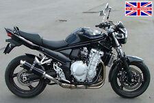 Suzuki Gsf650 Bandit 07-15 Sp ingeniería satén Redonda Negra Moto Gp Xls De Escape