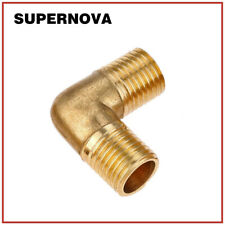 """Elbow 1/4"""" Male BSP Thread 90 Degree Brass Pipe Fitting Coupler Connector Air"""