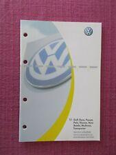 (2003) VOLKSWAGEN SERVICE RECORD BOOK. GOLF POLO BEETLE MULTIVAN BORA . (VWJL 9)