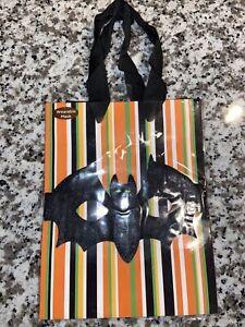 Papyrus Halloween Gift Bag - Bat Wearable Mask & Stripes