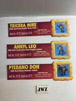 MIKE DON & LEO - NAME CARD - TMNT - Teenage Mutant Ninja Turtles - VINTAGE