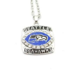 2005 Seattle Seahawks Necklace V-Neck Football Team Pendant Souvenir - 45 Cm