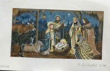 Liz / Susan Roberts Nativity Handpainted Needlepoint Canvas R