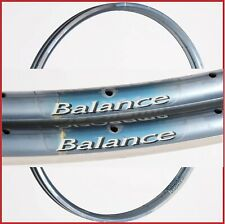 "NOS PAIR AMBROSIO BALANCE CLINCHER RIMS - LIGHT BLUE - 28"" 32H 526 g - 90S"